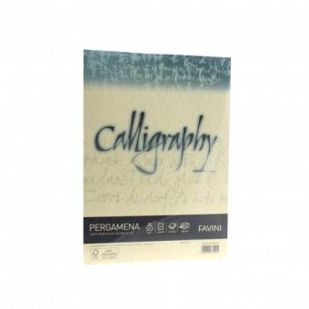 Hartie caligrafica A4 90g crem Pergamena FAVINI