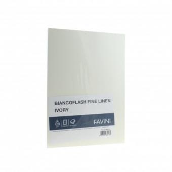 Carton carti vizita A4 250g ivory texturat FAVINI