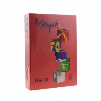 Carton color 160 g/mp A4 rosu Favini 209