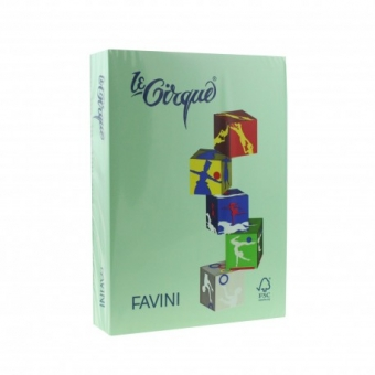 Carton color 160 g/mp A4 verde deschis Favini 107
