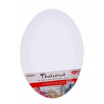 Panza pictura pe sasiu oval 25 x 35 cm DACO PZO2535