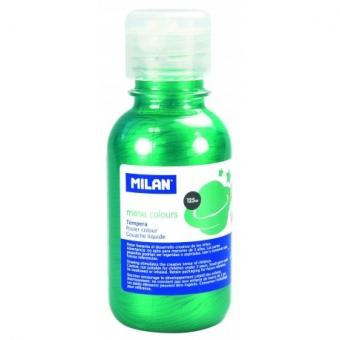 Tempera 125 ml verde metalizat MILAN