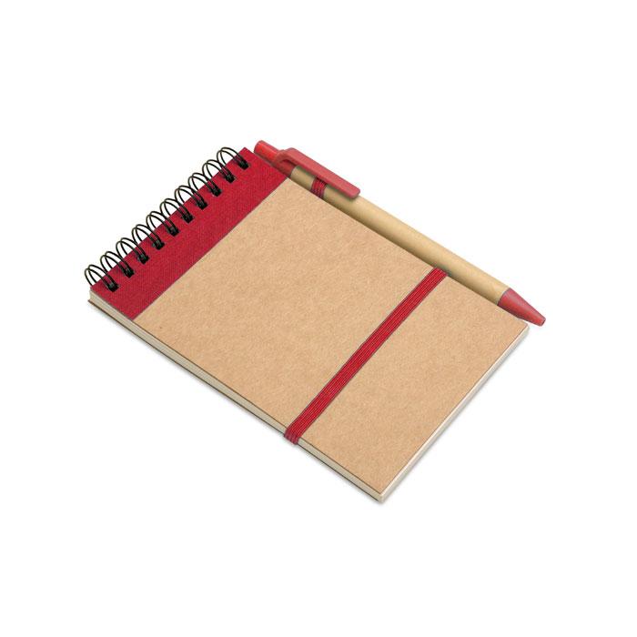 Bloc notes reciclat și pix     IT3789-05