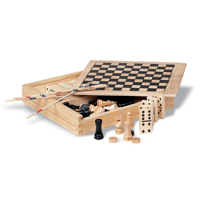 4 jocuri în cutie din lemn     KC2941-40