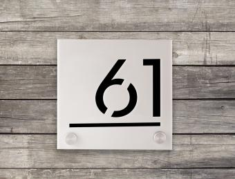 Numar de casa personalizat 14 x 14 cm