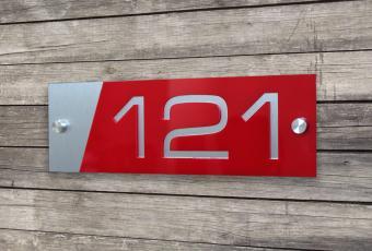 Numar de casa personalizat 10 x 30 cm