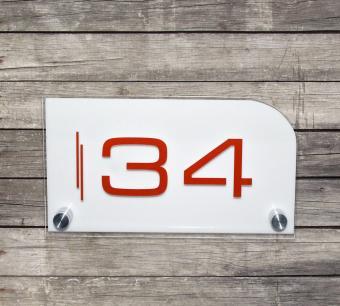 Numar de casa personalizat model 12.5 x 22.5 cm