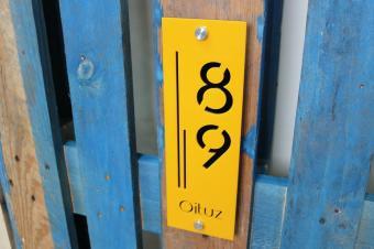 Numar de casa personalizat 10 x  30 cm vertical