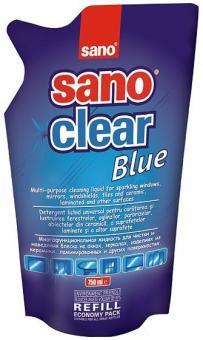 Detergent pentru geamuri Sano Clear Blue - Rezerva 750 ml