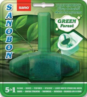 Odorizant WC solid Sano Bon Green Forest 5in1 55g