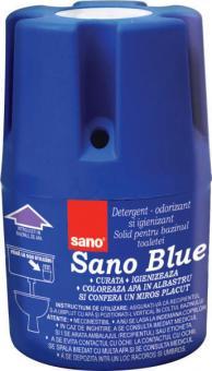 Odorizant  pentru bazinul toaletei Sano Blue 150g