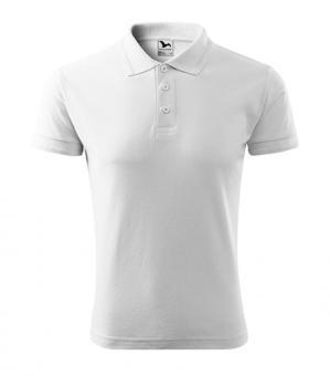 Tricou polo pentru bărbaţi Pique Polo 203 - alb 4XL