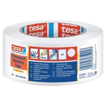 Banda Adeziva Pentru Marcare Tesaflex 60760 50 mm Alb