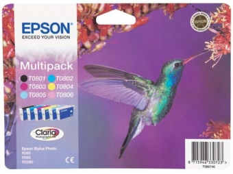 EPSON T0807 MULTIPACK INKJET CARTRIDGES