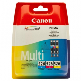 CANON CLI-526CMY INKJET PACK CARTRIDGES