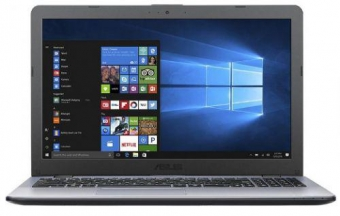Asus VivoBook 15 I3-7100U 4GB 256GB UMA W10P GRAY