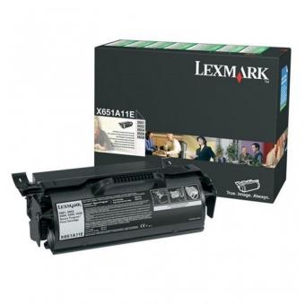 LEXMARK X651A11E BLACK TONER