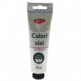 Culori ulei 100 ml Verde Permanent DACO CU4100VP