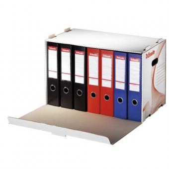 Container arhivare ESSELTE Standard, bibliorafturi, deschidere laterala