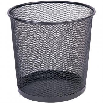 Cos metalic Mesh, pentru hartii, 12 litri, Q-Connect - negru