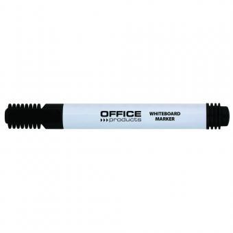 Marker pentru table de scris, varf rotund, corp plastic, Office Products - negru