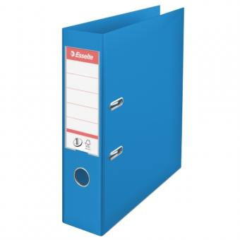 Biblioraft ESSELTE No. 1 Power, A4, plastifiat PP/PP, margine metalica, 75 mm - Vivida albastru