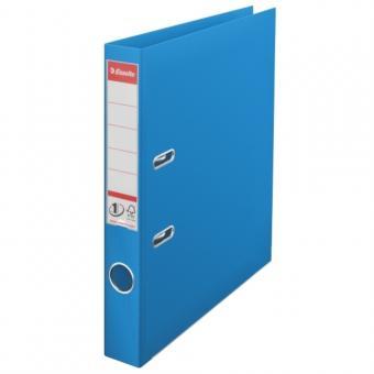 Biblioraft ESSELTE No. 1 Power, A4, plastifiat PP/PP, margine metalica, 50 mm - Vivida albastru