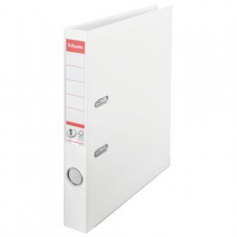Biblioraft ESSELTE No. 1 Power, A4, plastifiat PP/PP, margine metalica, 50 mm - Vivida alb