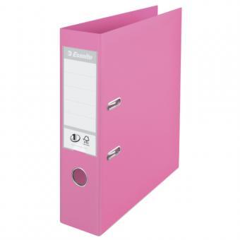 Biblioraft ESSELTE No. 1 Power, A4, plastifiat PP/PP, margine metalica, 75 mm - violet