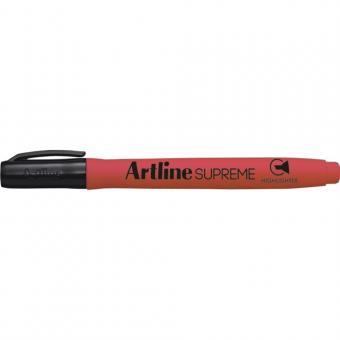 Textmarker ARTLINE Supreme, varf tesit 1.0-4.0mm - rosu fluorescent