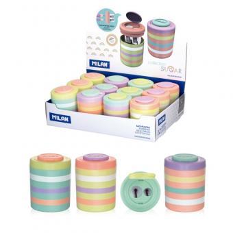 Ascutitoare plastic dubla cu container Sugar MILAN