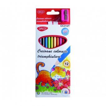 Creion color 12 culori triunghiular DACO CC312T