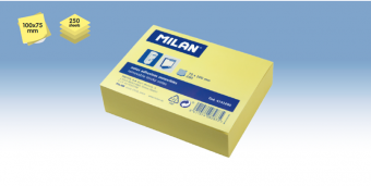 Bloc notes adeziv 75x100mm Galben pal 250 coli MILAN
