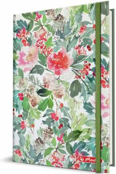 AGENDA A5 DATATA 352 FILE WATERCOLOR FLOWERS 2020