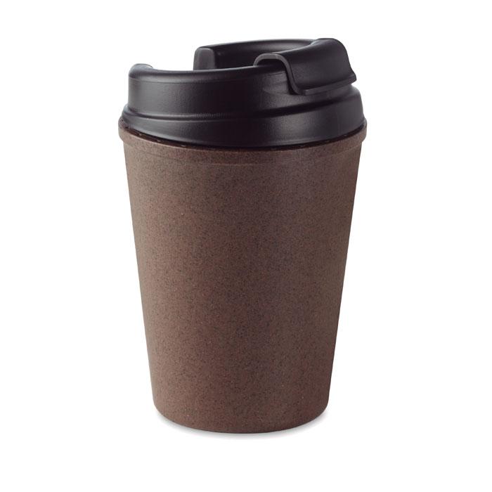 Cană cu perete dublu cafea/PP  MO6108-01