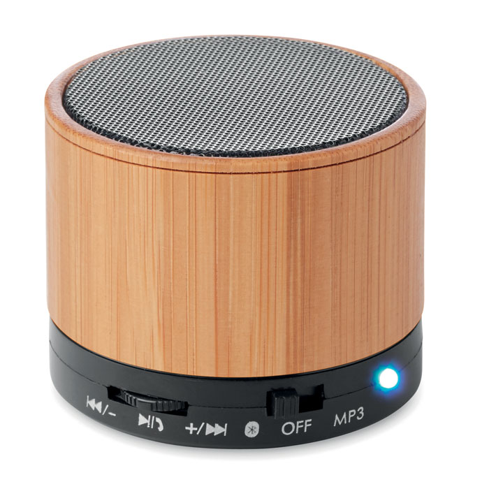 Boxă rotundă Bluetooth bambus  MO9608-03