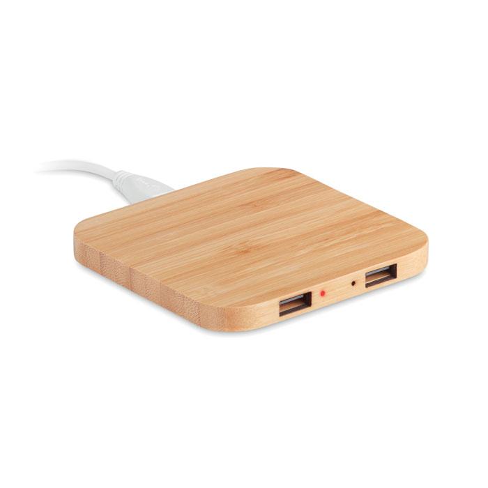 Încărcător wireless din bambus MO9698-40