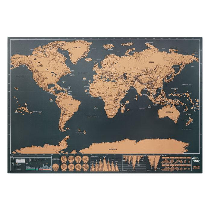 Harta lumii răzuibilă 42x30 cm MO9736-13