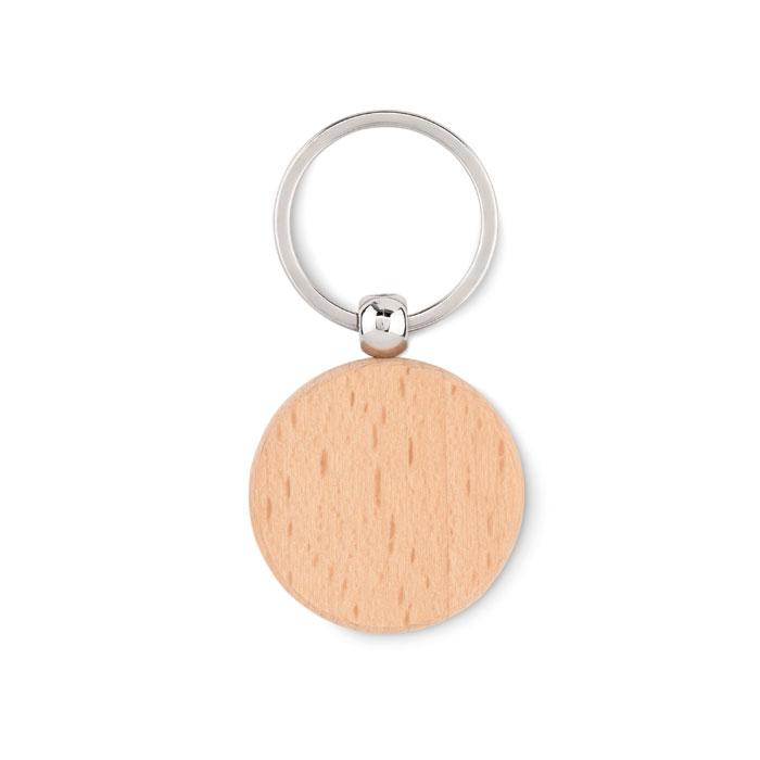 Breloc rotund din lemn         MO9773-40