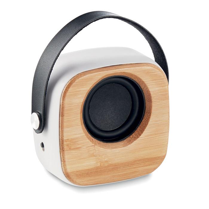 Boxă de 3W cu față de bambus   MO9806-06