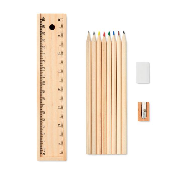 Set de 12 creioane de lemn     MO9836-40
