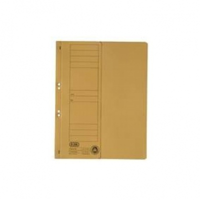 Dosar carton cu capse 1/2 galben ELBA