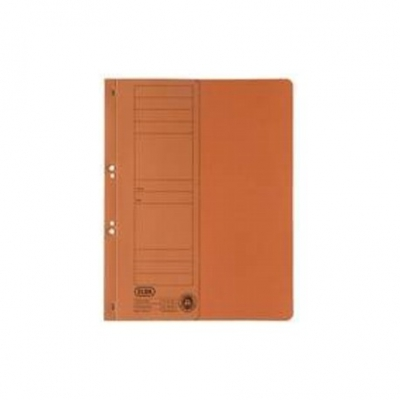 Dosar carton cu capse 1/2 portocaliu ELBA