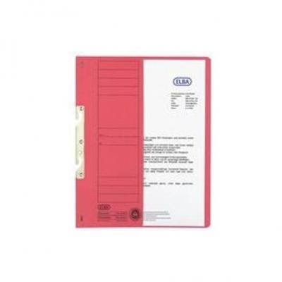 Dosar carton incopciat 1/2 rosu ELBA