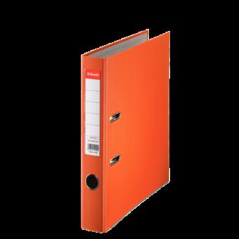 Biblioraft plastifiat 5cm portocaliu economy ESSELTE