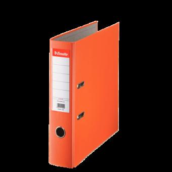 Biblioraft plastifiat 7.5 cm portocaliu economy ESSELTE