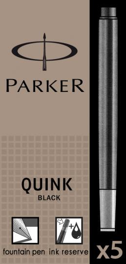 Negru permanent  Parker Cartus Quink Standard