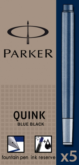 Albastru inchis permanent  Parker Cartus Quink Standard