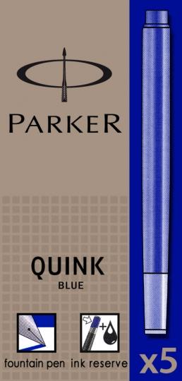 Albastru permanent  Parker Cartus Quink Standard