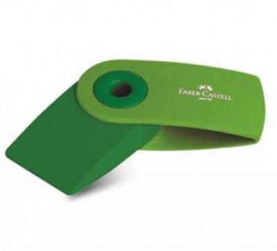Radiera creion sleeve verde Faber-Castell